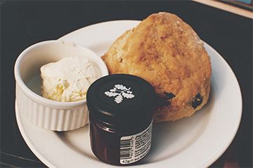 scone on a plate